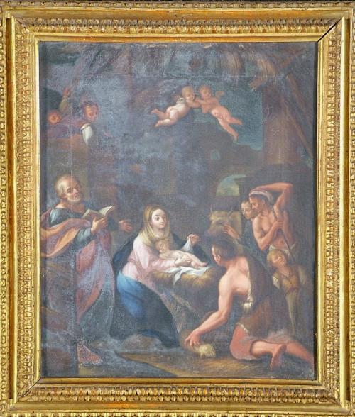 Adorazione dei pastori, scuola emiliana del XVII sec, Coll. privata